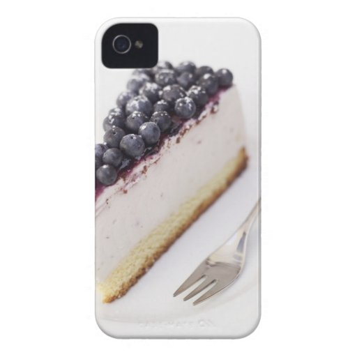 Close-up of a slice of blueberry cheese cake iPhone 4 case