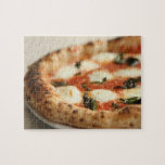 Close-up of a whole pizza pie jigsaw puzzle