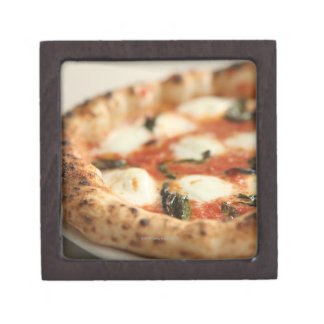 Close-up of a whole pizza pie premium gift boxes