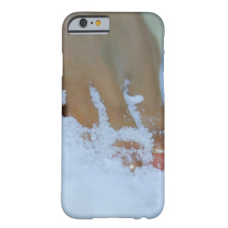 Close-up of a woman's foot in salt barely there iPhone 6 case