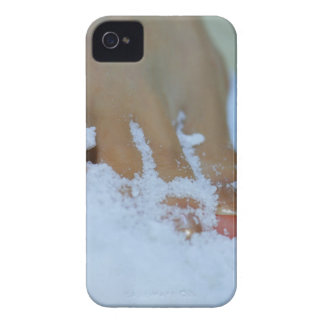 Close-up of a woman's foot in salt iPhone 4 case
