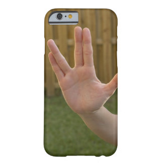 Close-up of a woman's hand making a hand sign barely there iPhone 6 case