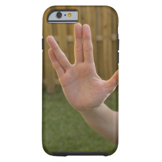 Close-up of a woman's hand making a hand sign tough iPhone 6 case