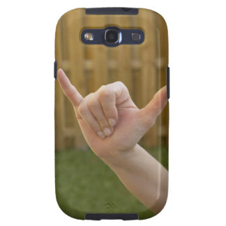 Close-up of a woman's hand making a shaka sign samsung galaxy s3 case