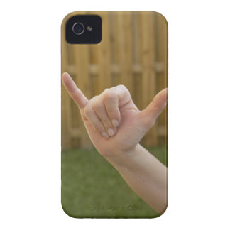 Close-up of a woman's hand making a shaka sign iPhone 4 case