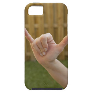 Close-up of a woman's hand making a shaka sign iPhone SE/5/5s case