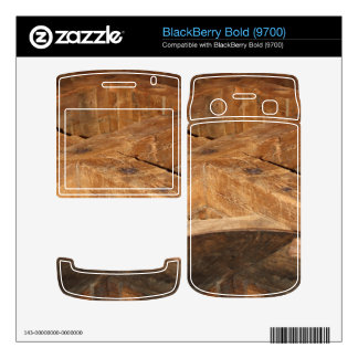 close up of a wooden mill part BlackBerry bold decals