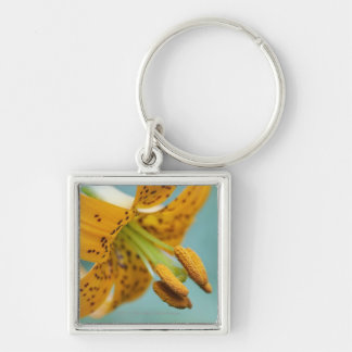 Close Up of a Yellow Lily Keychain