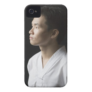 Close-up of a young man contemplating iPhone 4 Case-Mate case