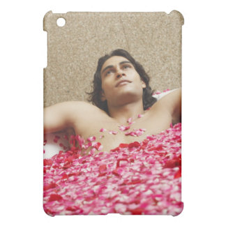 Close-up of a young man lying in a bathtub iPad mini cover