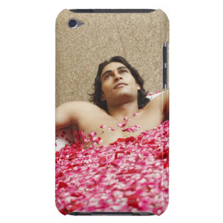 Close-up of a young man lying in a bathtub iPod touch covers
