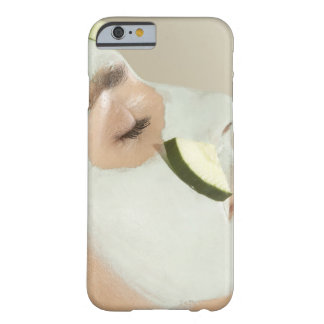 Close-up of a young woman wearing a facial mask barely there iPhone 6 case