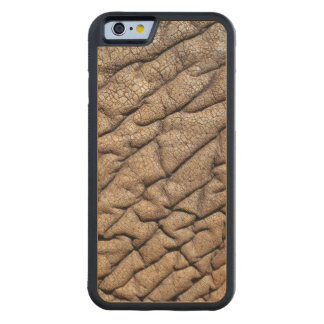 Close-Up Of African Elephant's Hide Carved Maple iPhone 6 Bumper Case