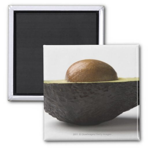 Close-up of an avocado 2 inch square magnet