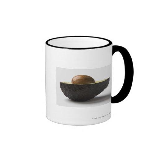 Close-up of an avocado coffee mugs