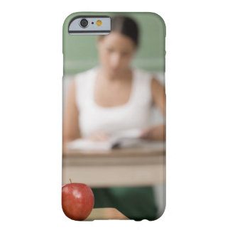 Close-up of an on a desk barely there iPhone 6 case