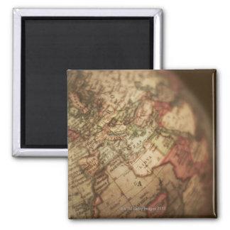Close-up of antique globe 3 2 inch square magnet