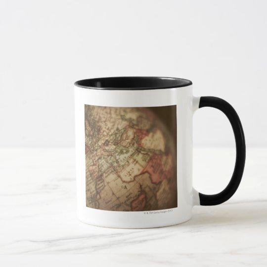 Close-up of antique globe 3 mug