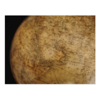Close up of antique globe 3 postcard