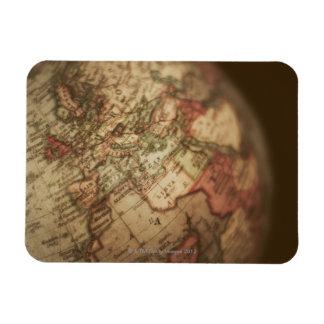 Close-up of antique globe 3 rectangular photo magnet