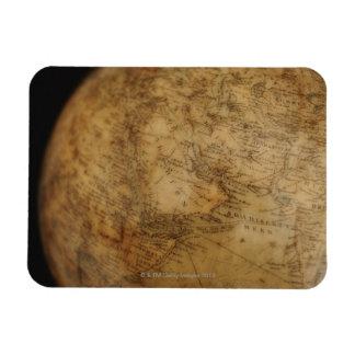 Close up of antique globe 3 rectangular photo magnet
