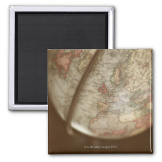 Close up of antique globe magnet
