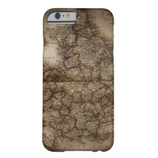 Close up of antique map of England Barely There iPhone 6 Case
