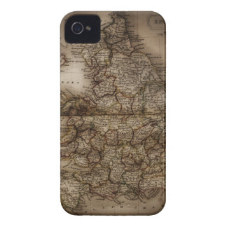 Close up of antique map of England Case-Mate iPhone 4 Cases