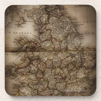 Close up of antique map of England Drink Coaster
