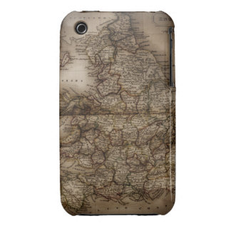 Close up of antique map of England iPhone 3 Case-Mate Case