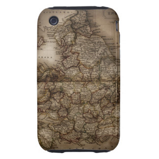 Close up of antique map of England iPhone 3 Tough Covers