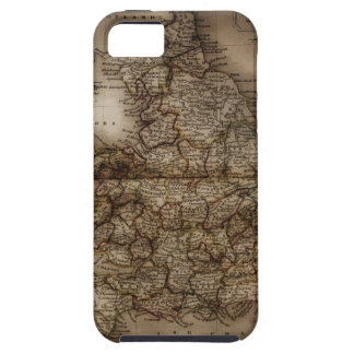 Close up of antique map of England iPhone SE/5/5s Case