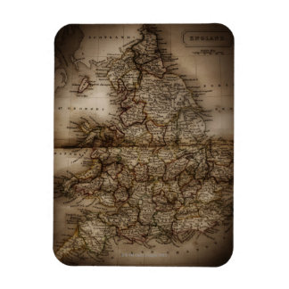 Close up of antique map of England Magnet