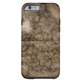 Close up of antique map of England Tough iPhone 6 Case