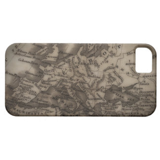 Close up of antique map of Europe iPhone 5 Cover