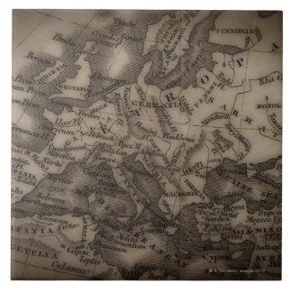 Close up of antique map of Europe Ceramic Tile