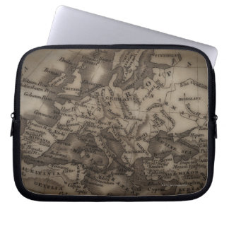 Close up of antique map of Europe Computer Sleeve