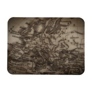 Close up of antique map of Europe Magnet