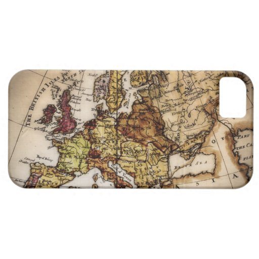 Close up of antique world map 2 iPhone 5 cases