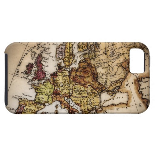 Close up of antique world map 2 iPhone 5 case