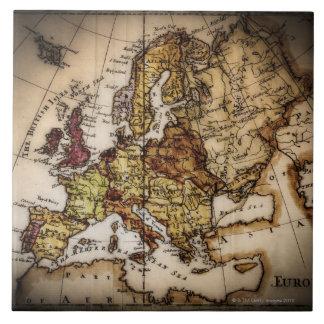 Close up of antique world map 2 ceramic tile