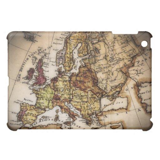 Close up of antique world map 2 iPad mini cases