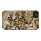 Close up of antique world map 2 iPhone 4 case