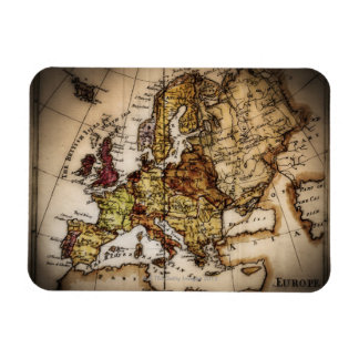 Close up of antique world map 2 flexible magnet