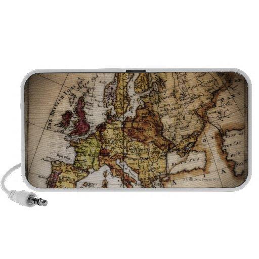 Close up of antique world map 2 mini speakers