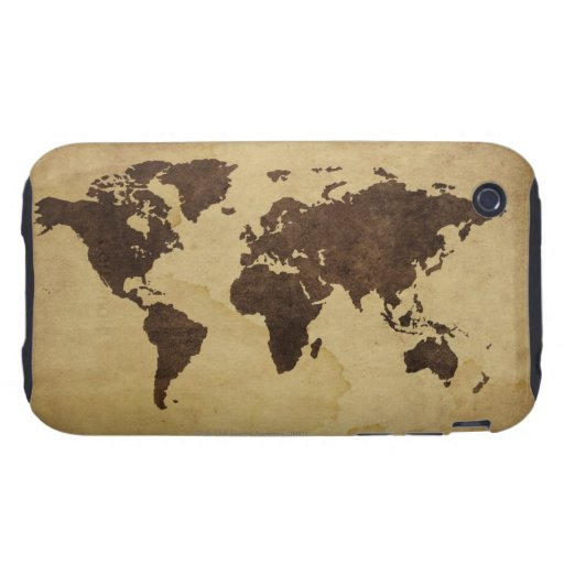 Close up of antique world map 3 iPhone 3 tough covers