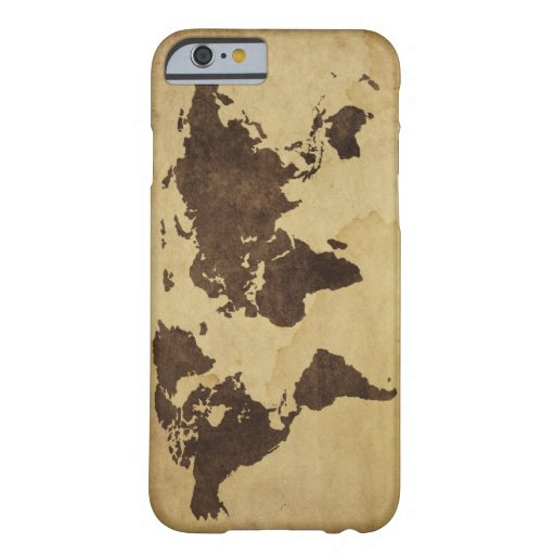 Close up of antique world map 3 iPhone 6 case