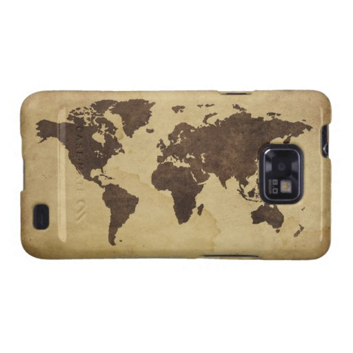 Close up of antique world map 3 samsung galaxy s case