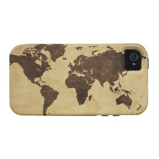 Close up of antique world map 3 vibe iPhone 4 covers