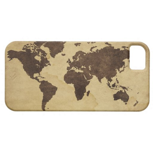 Close up of antique world map 3 iPhone 5 case